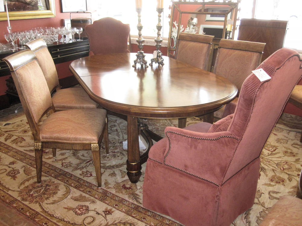 Ferguson Copeland Dining Table Plus 10 Chairs 8 Classical Italian Side Chairs And 2 Umbria Arm