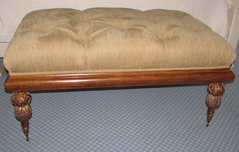 Designer tufted ottoman from dcota 995 for Chaise holly roche bobois