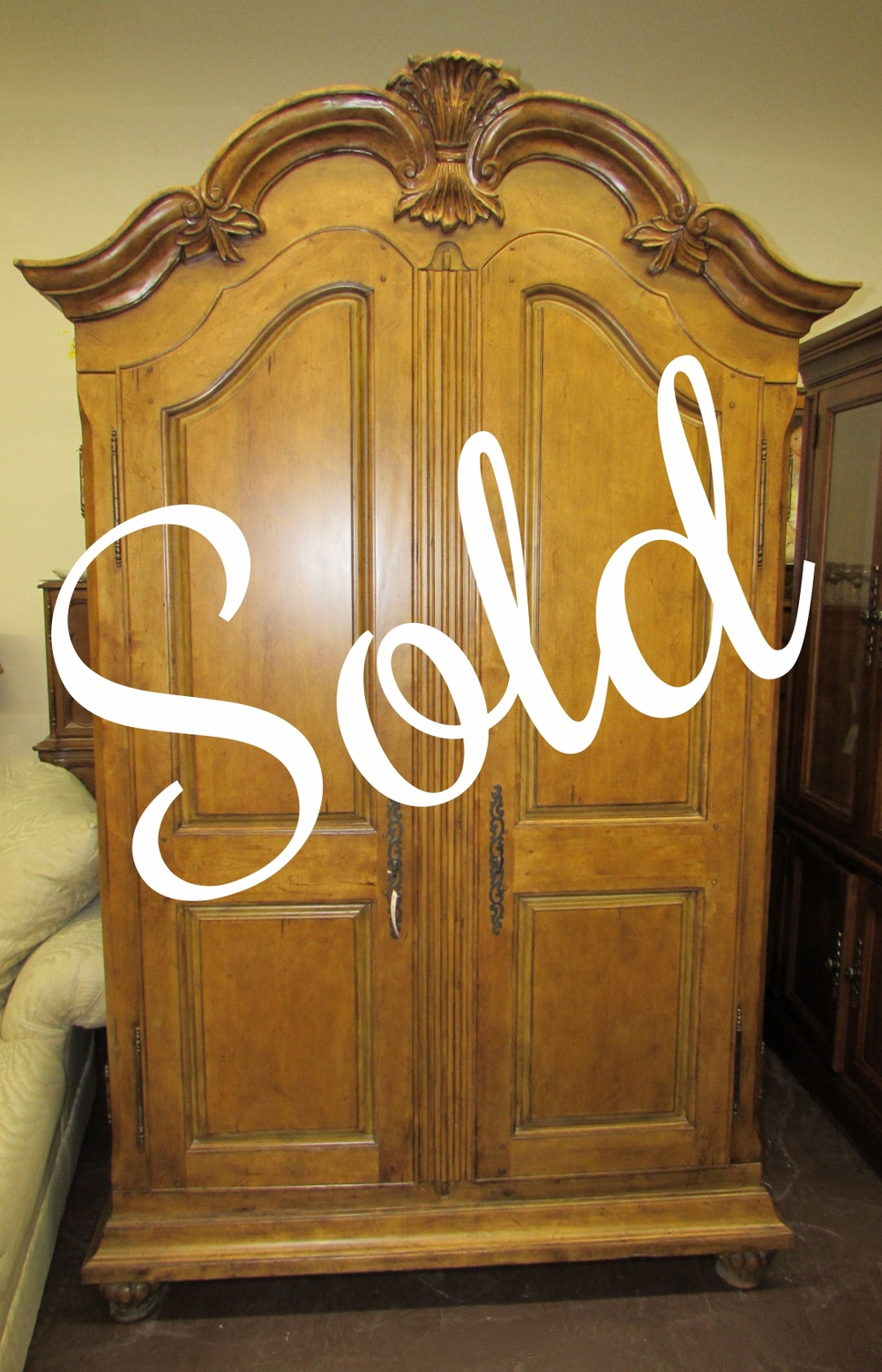 French Country Armoire Or Wardrobe 895