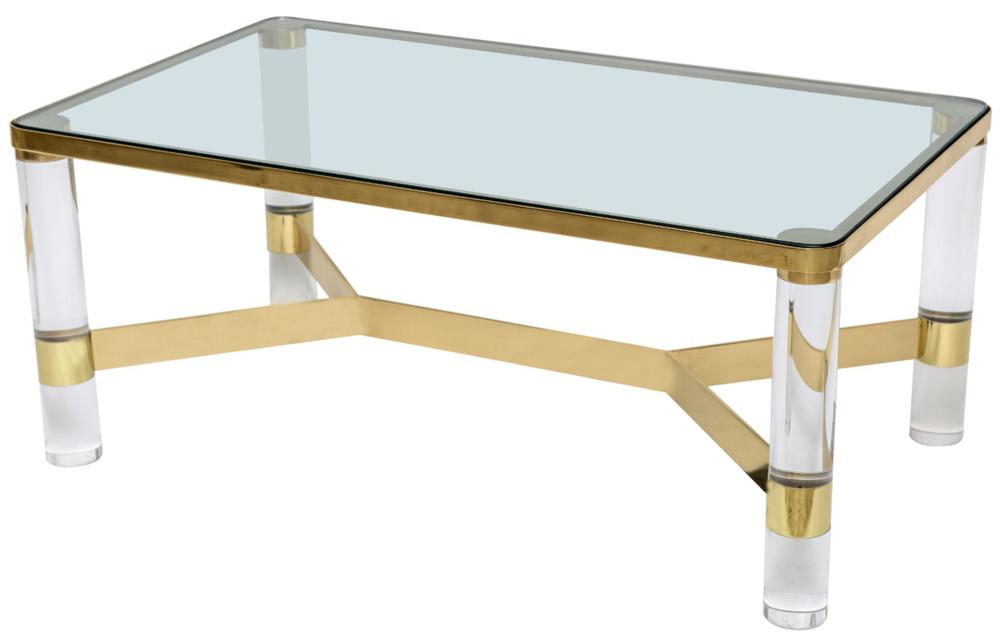Iconic Signed Karl Springer Cocktail Table
