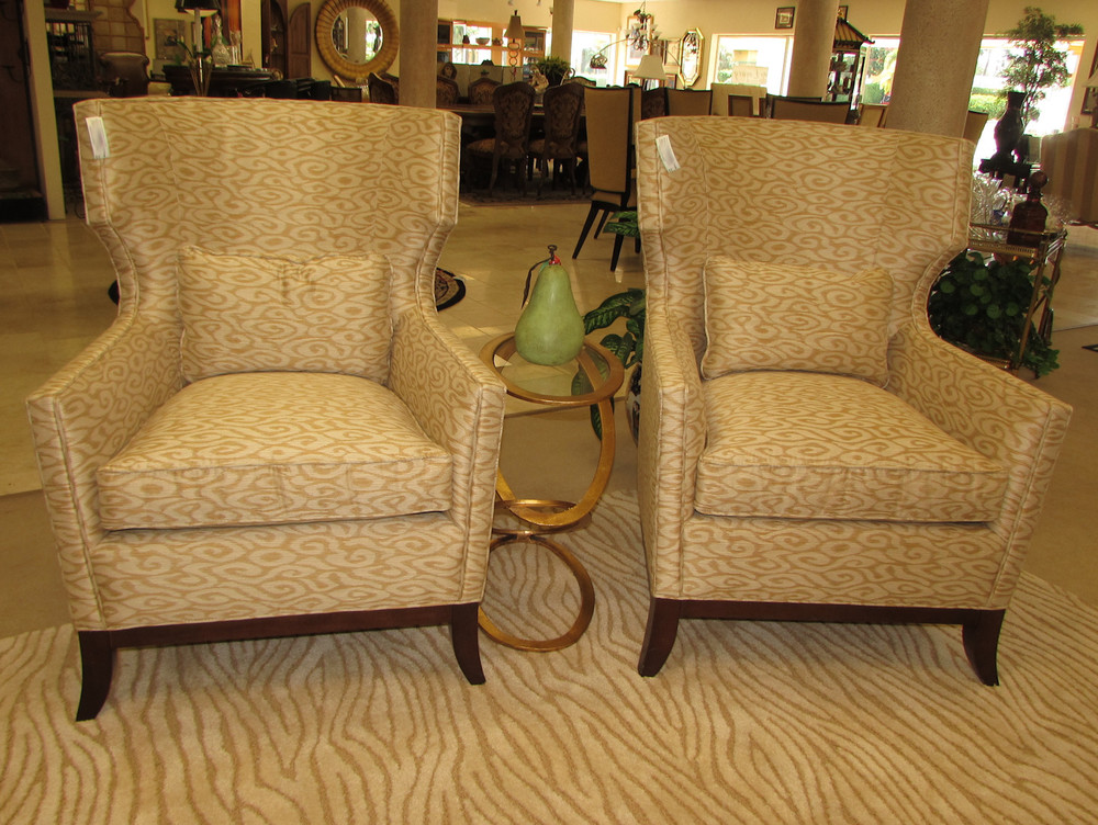 Pair of Lexington Contemporary Arm Chairs
