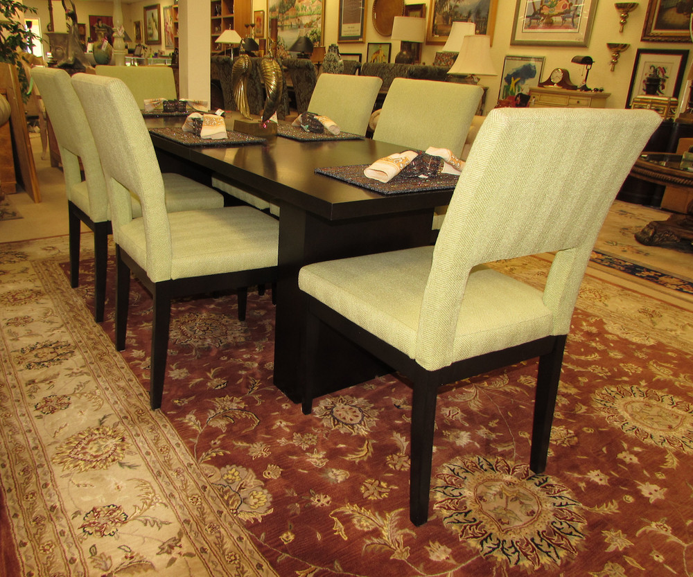 Swaim Dining Chairs with Extension Table