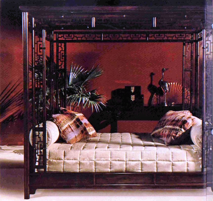Baker Furniture Chinese Chippendale Canopy Bed