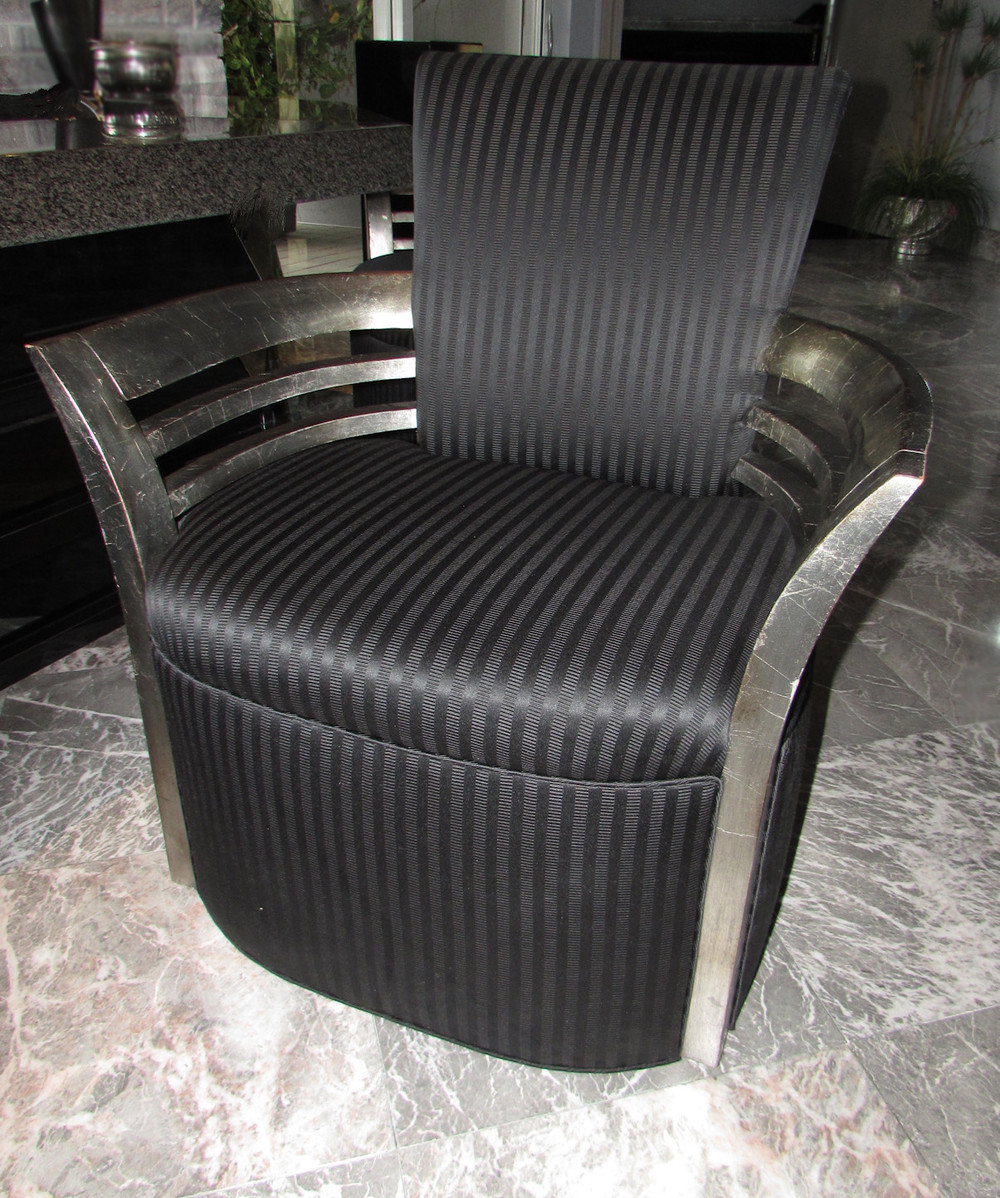 Designer DCOTA Deco Contemporary Dining Arm Chairs Accent Bar Chairs