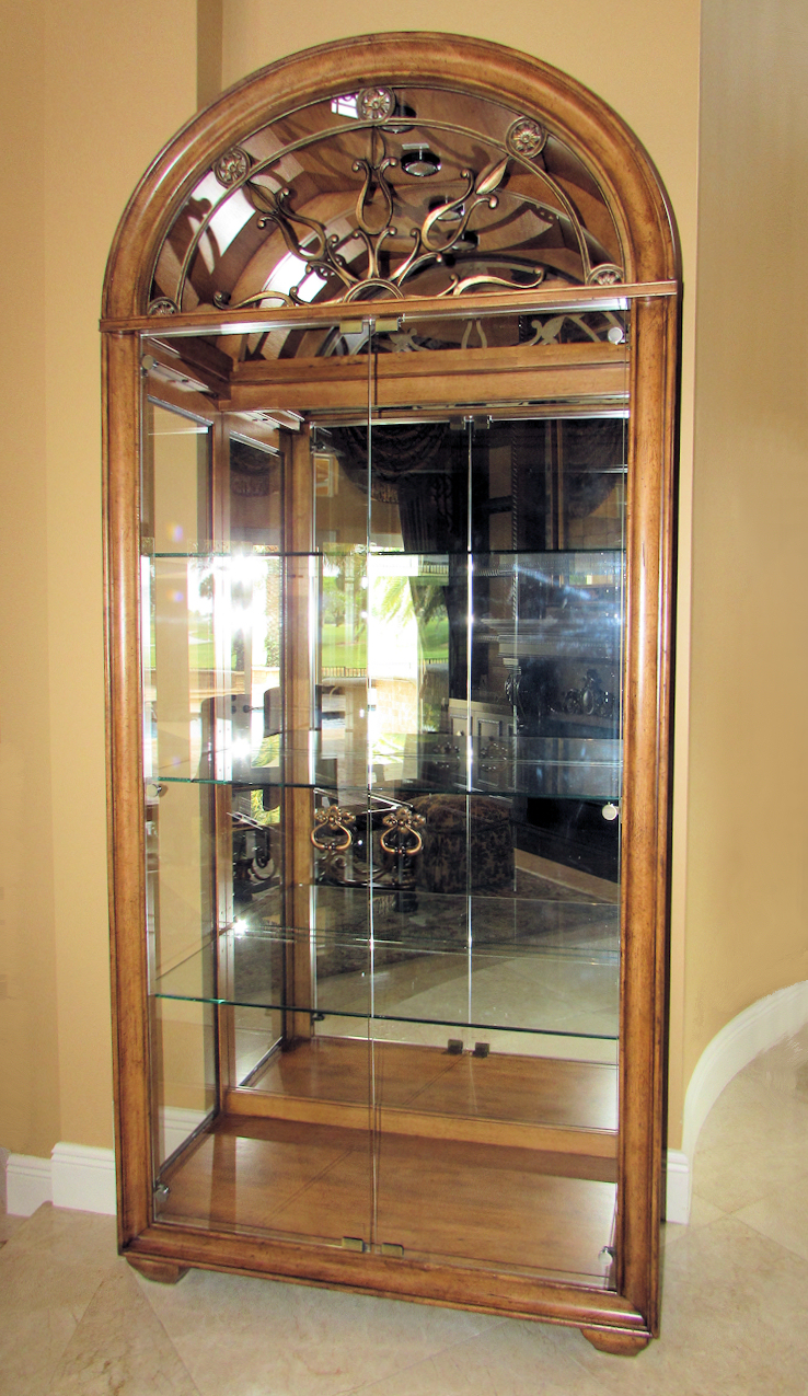 Curio Cabinet Lights Sold Thomasville Hills Of Tuscany Bibbiano Lighted Curio Display