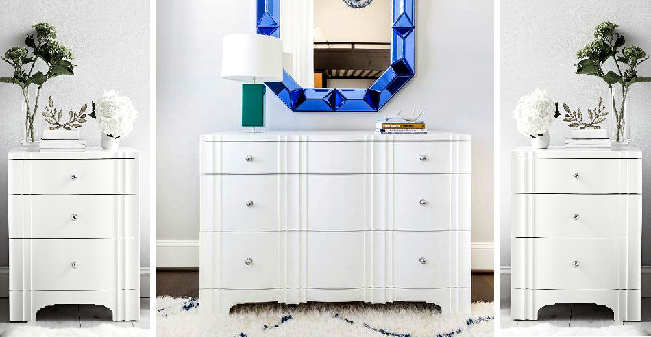 Bungalow 5 Flanders French Deco 3-Piece Dresser Set (NEW) Dresser plus 2 Nightstands  Retail: $6,100 / Our Price: $2,995