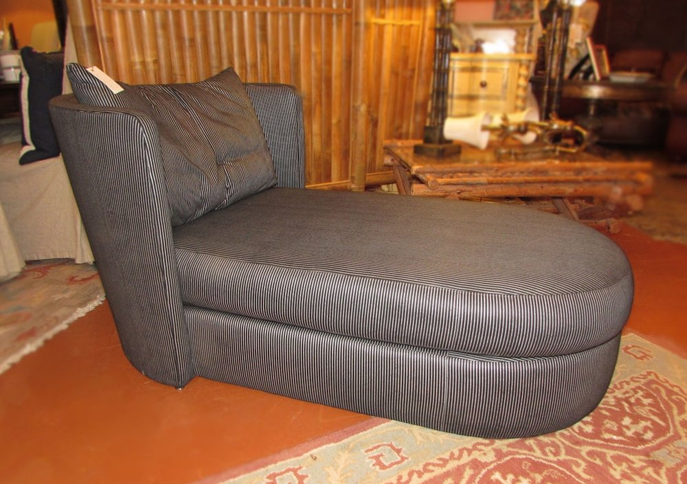 SOLD  Vintage Swaim Chaise Lounge designed by John Mascheroni