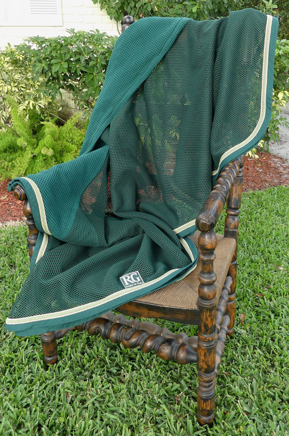 RG Italy Hunter Green Netted Equestrian Horse Rug    $295