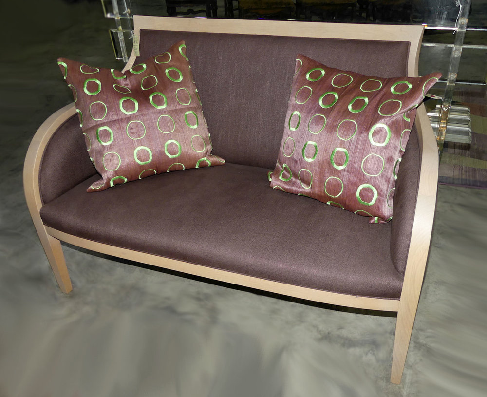 Ash and Linen Settee or Love Seat   REDUCED: $500  / Originally: $795