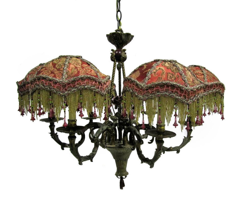 Kathleen Caid Beaded Silk Chandelier  $5,495 (Make Offer Available)