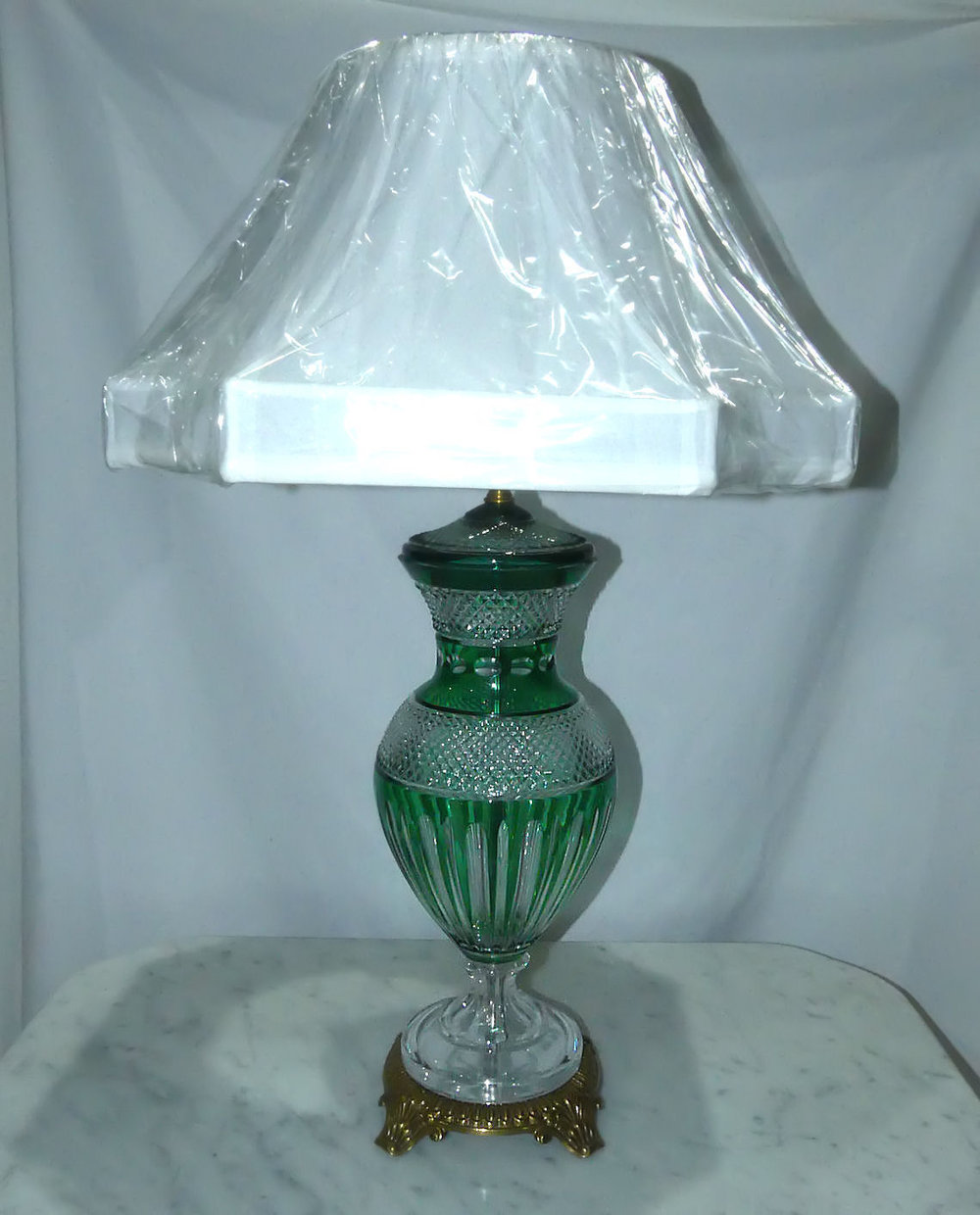 Emerald Green Hand Cut Hungarian Crystal Lamp  $895 (free domestic shipping)