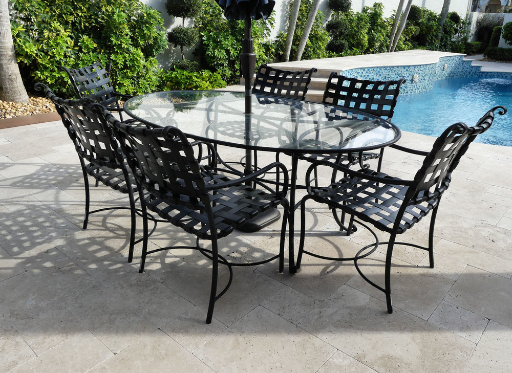 SOLD  Brown Jordan Outdoor Patio Dining Set