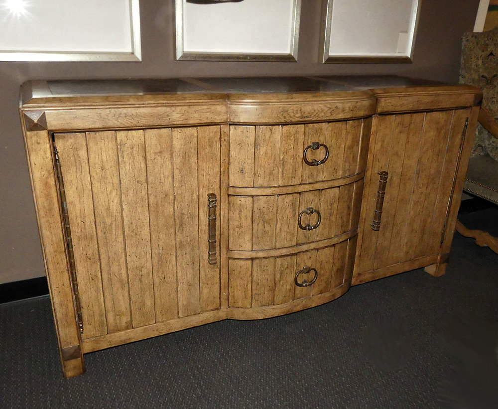 SOLD  Ferguson Copeland Rustic Copper Inlay Buffet