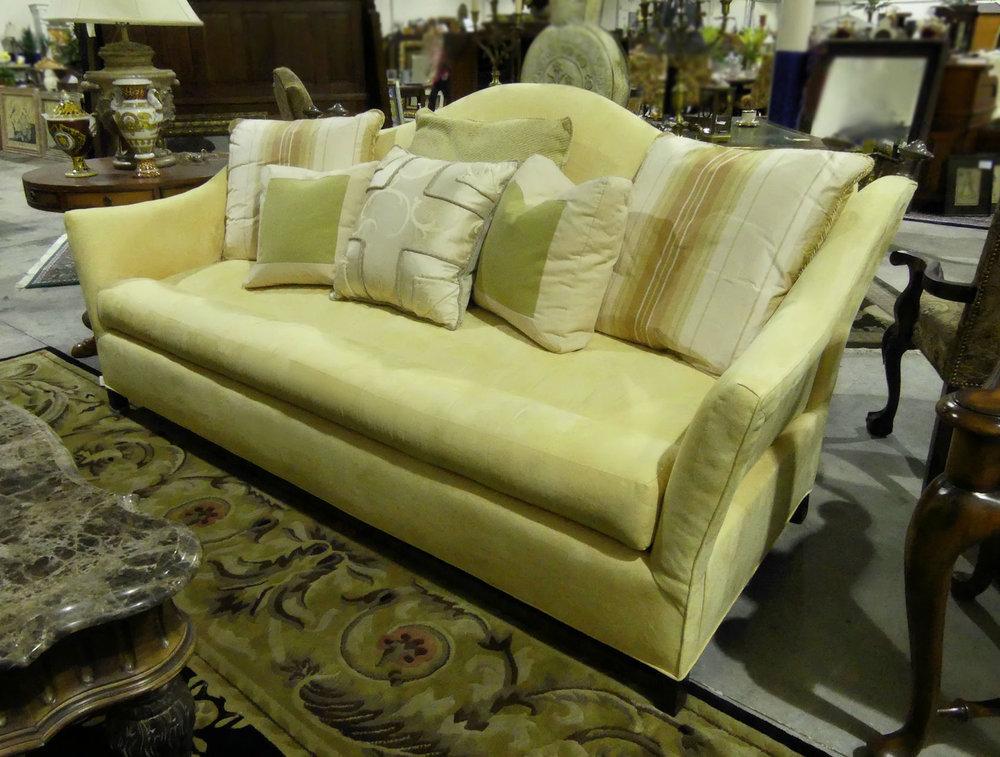 Custom Camel Back Knoll-Style Sofa  $1,750