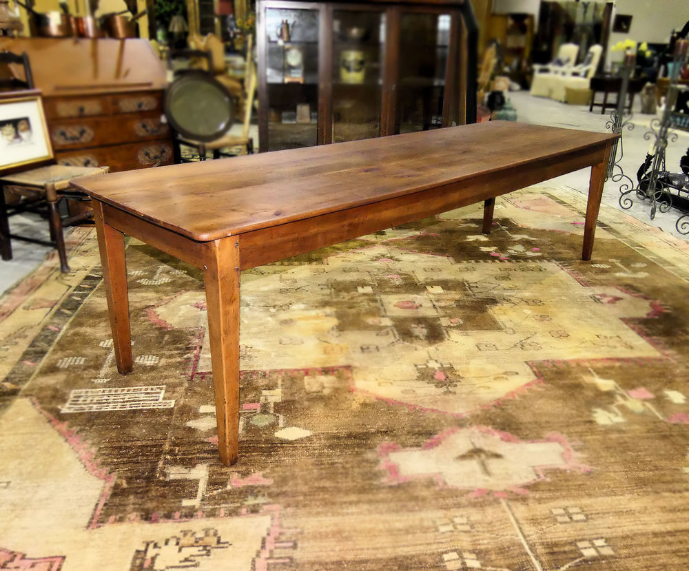 SOLD  Antique 19th Century Farm Table 8.7 Foot