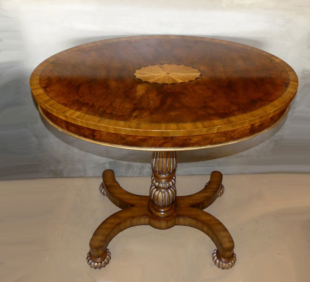 Maitland Smith Oval Burl Wood Side Table  $895