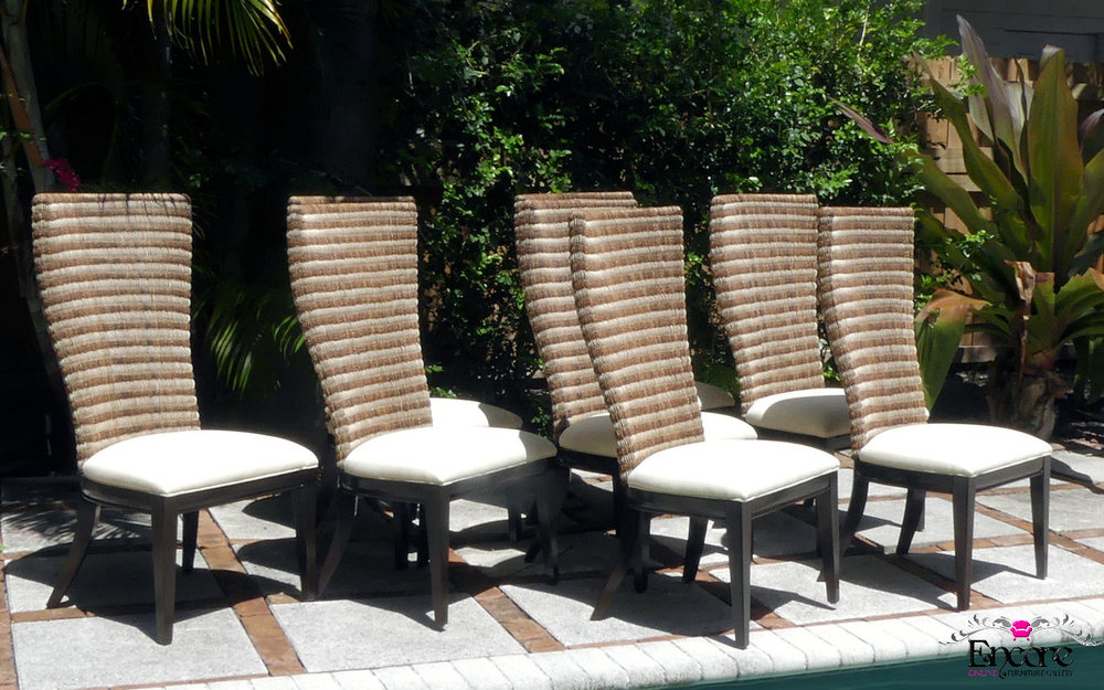 Tropical Woven Back Chairs with a Contemporary Flair by Artistica