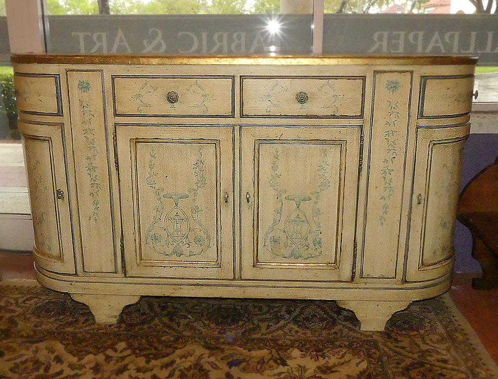 SOLD  Century Duport Decorated Credenza