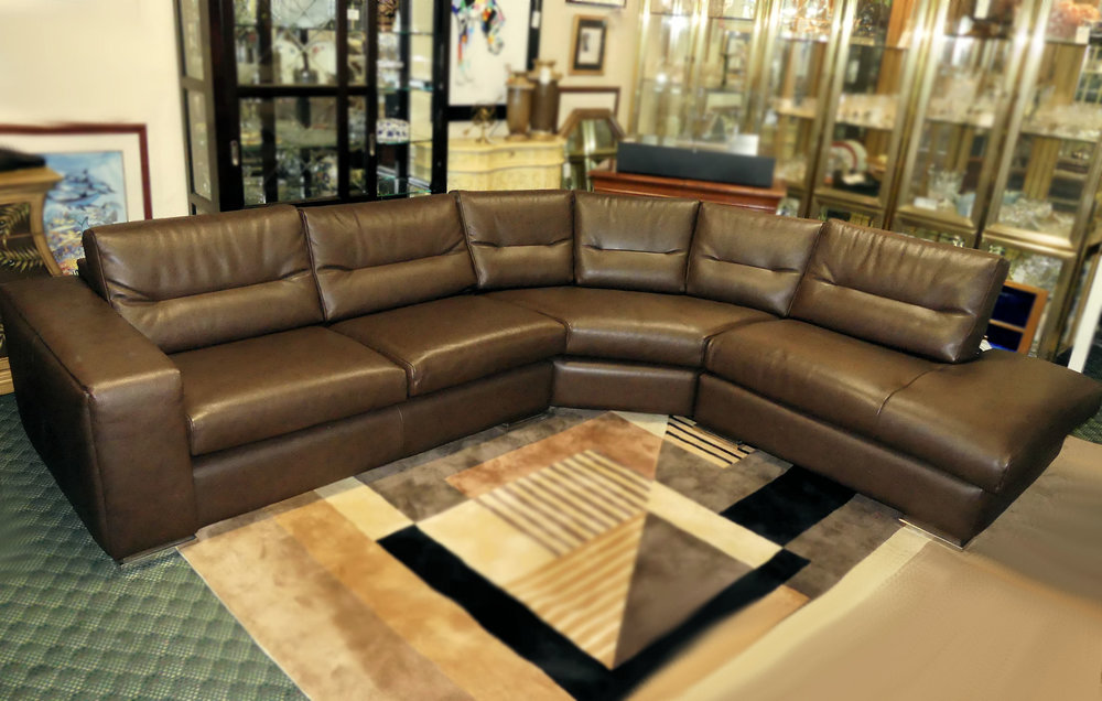 SOLD  Scan Design Italian Leather Sectional