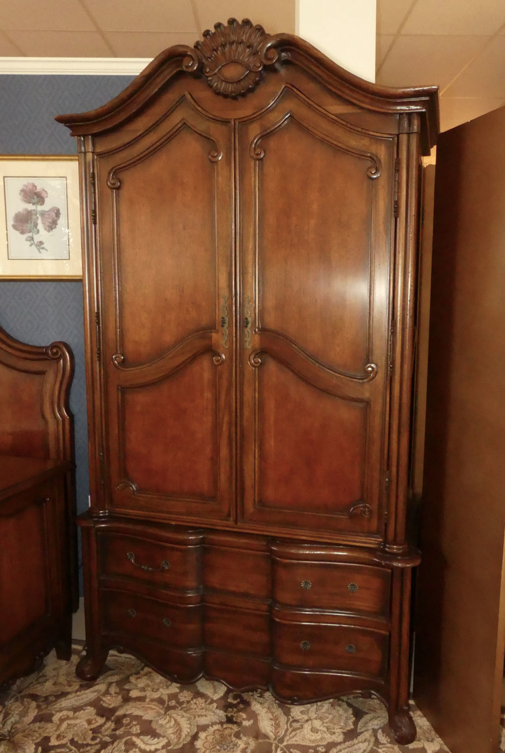 French Country Armoire by Hickory Chair Made in America  $750