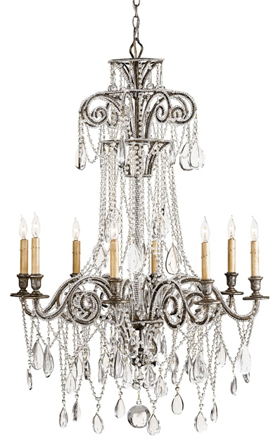 "SOLD  Curry & Company ""Lillian"" Chandelier 9051 Designed by Lillian August - Made in America"