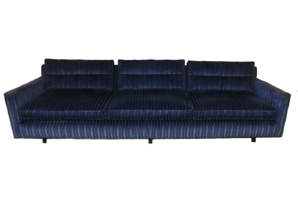 SOLD  Mid-Century Modern Tuxedo Love Seat Attributed to Harvey Probber