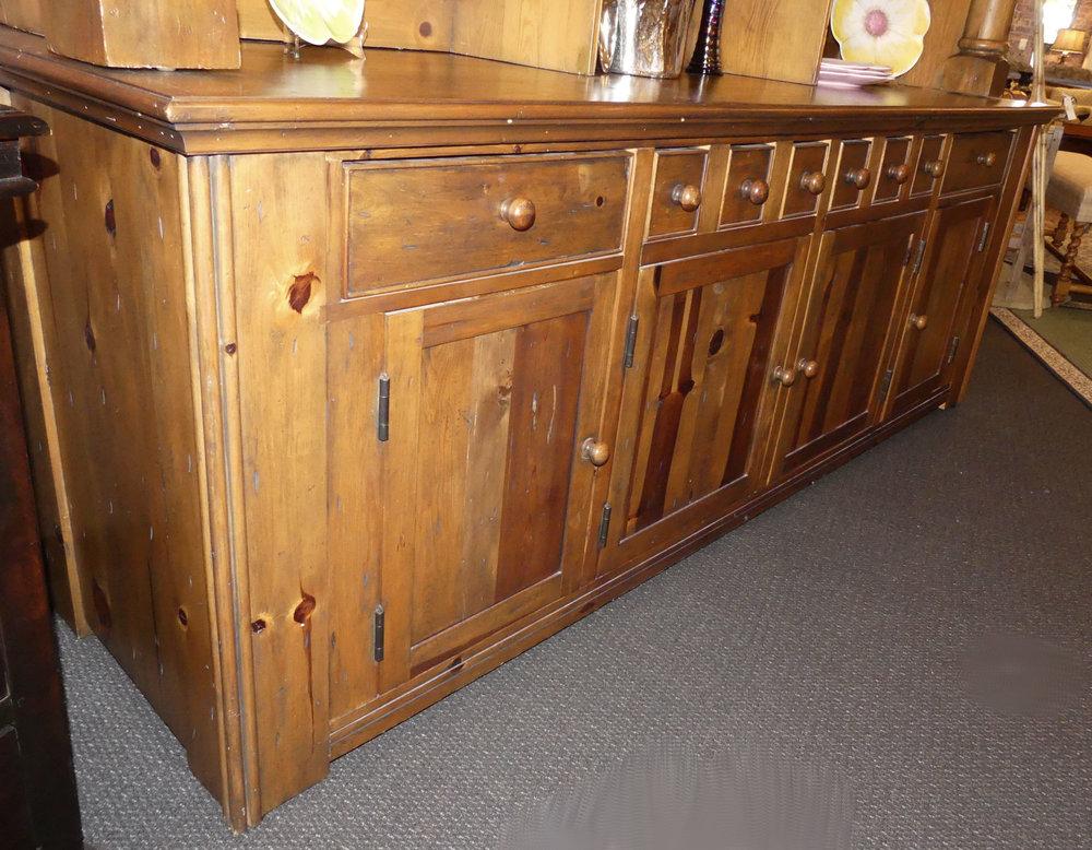 Ralph Lauren Bromley Solid Pine Bookcase Hutch 05