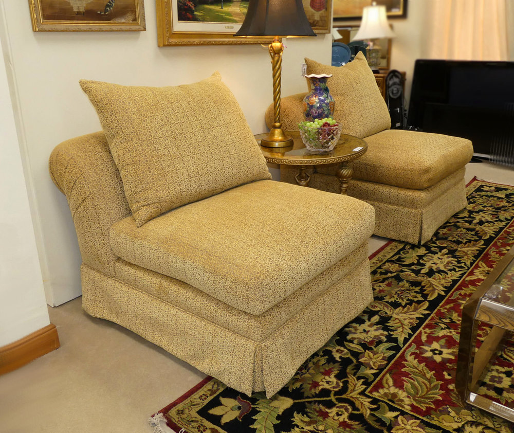 Pair of 2 Kreiss Giverny Slipper Chairs  $1,350