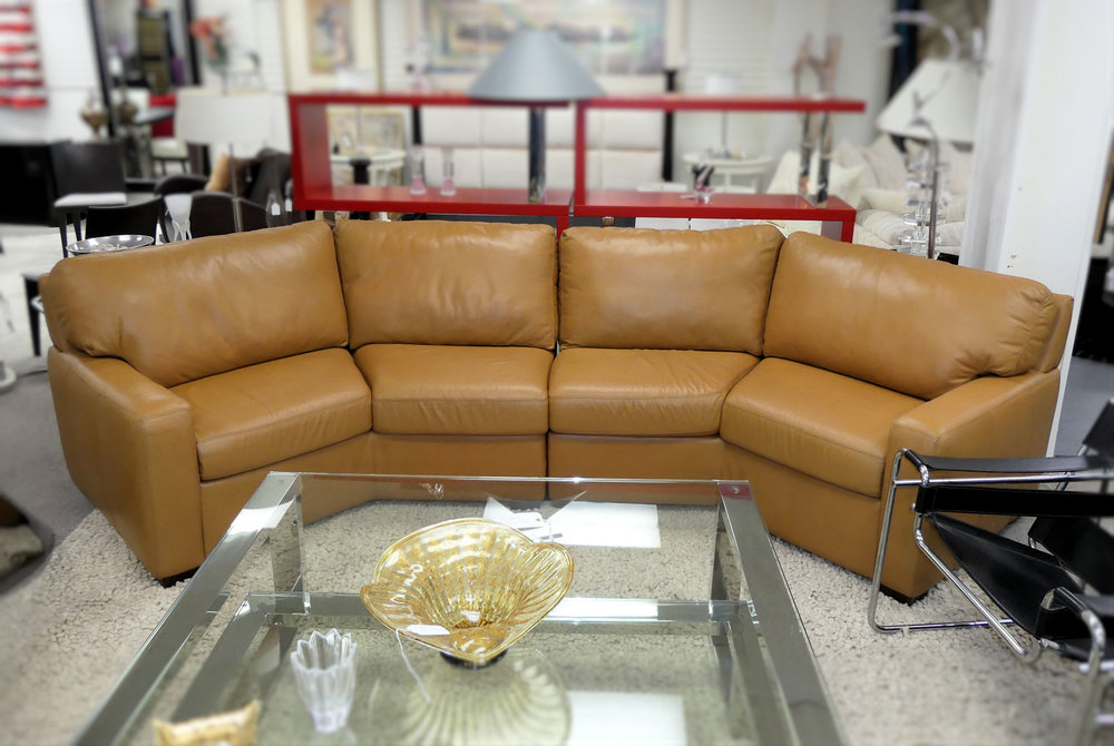SOLD  American Leather Carson Leather Sectional