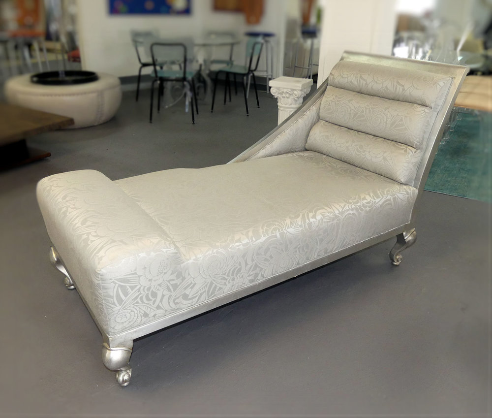Hollywood Glamour Silver Chaise Lounge by IDG Studio  $1,595