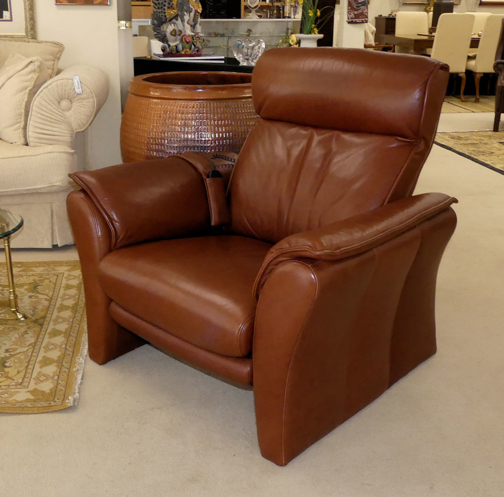 SOLD W. Schillig Leather Motorized Recliners