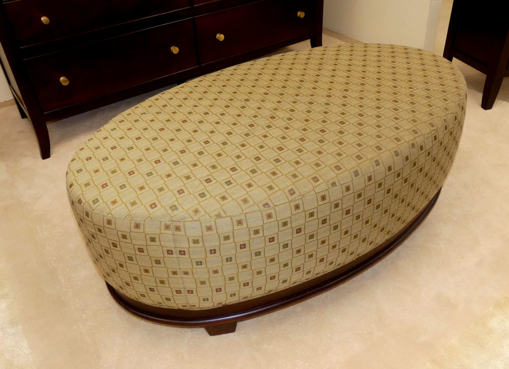 Baker Barbara Barry Oval X-Stitched Cocktail Ottoman  $1,195