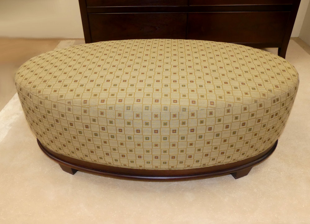 Baker Barbara Barry Oval X-Stitched Ottoman   REDUCED: $995