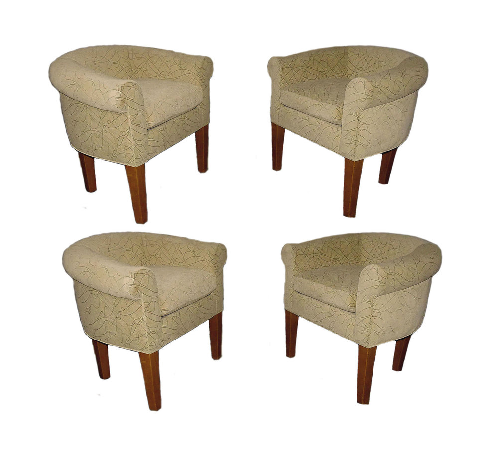 Set of 4 Ralph Lauren Tub Chairs  Also available as a pair REDUCED: $1,300 for the set pf 4