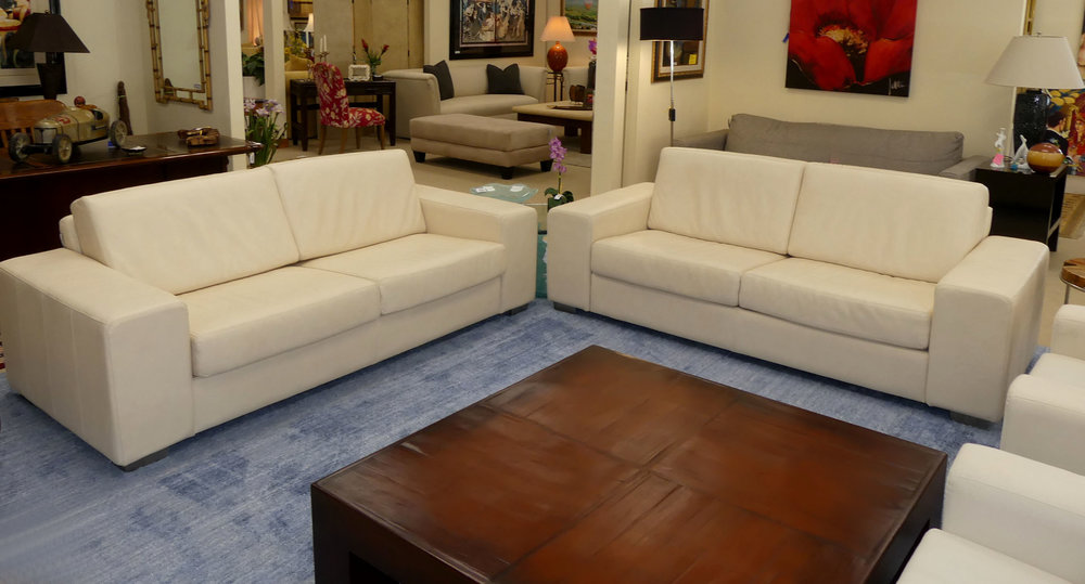 """Design NS Leather """"Norway"""" Sofa - Made in America   2 Available  $1,895 each"""