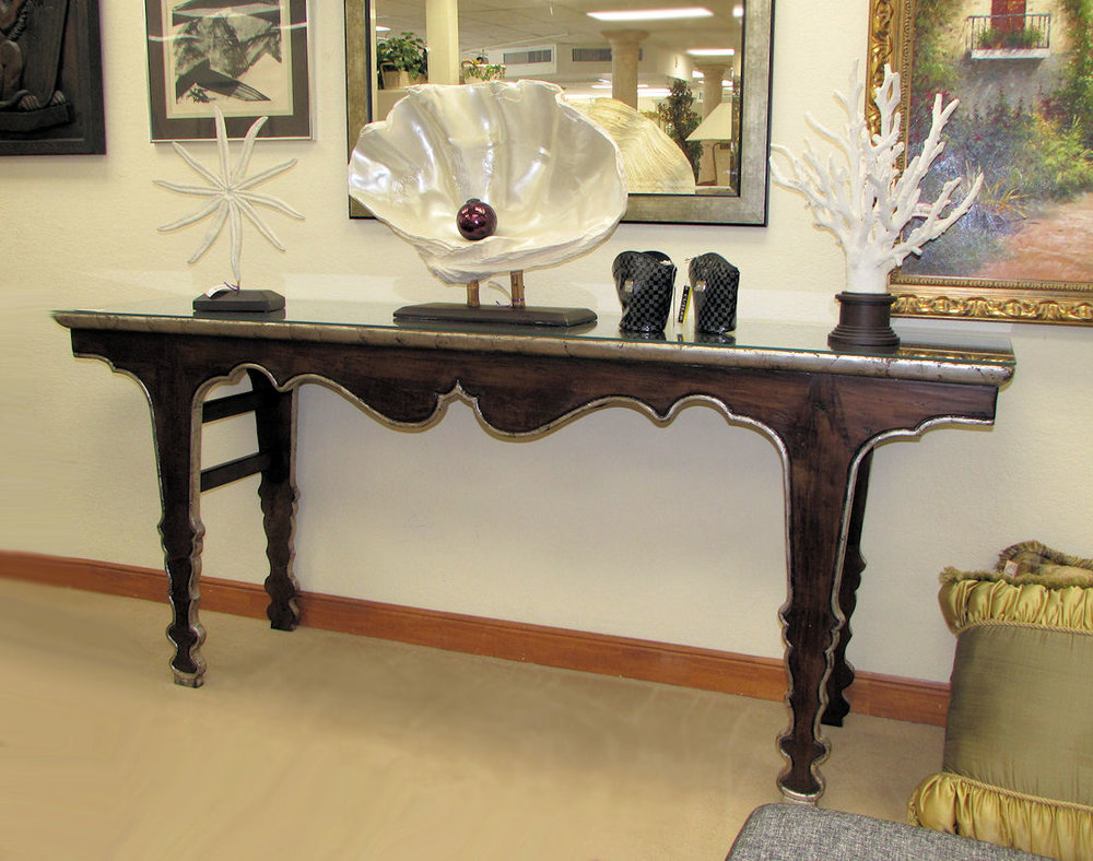 SOLD  Swaim Transitional Console Table