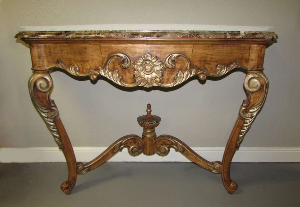 SOLD Wall Mount Marble Top Console Table