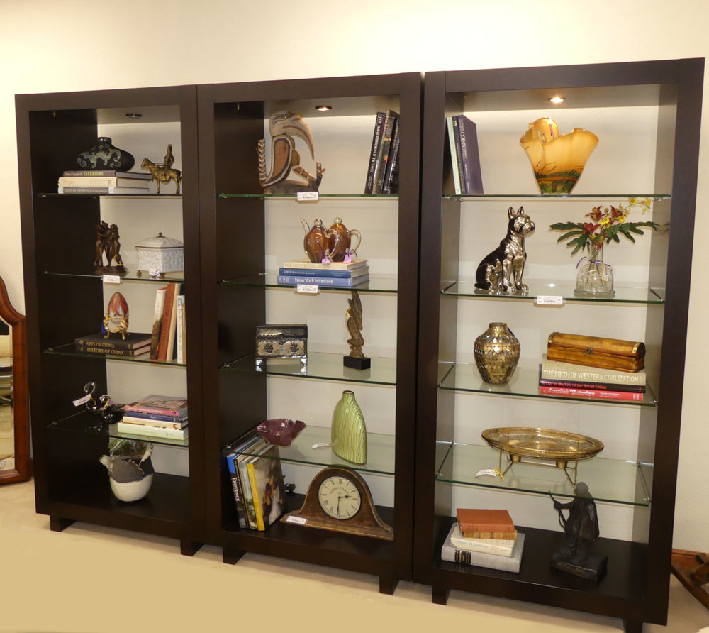 SOLD  Creative Elegance 3-Piece Lighted Display Unit or Room Divider