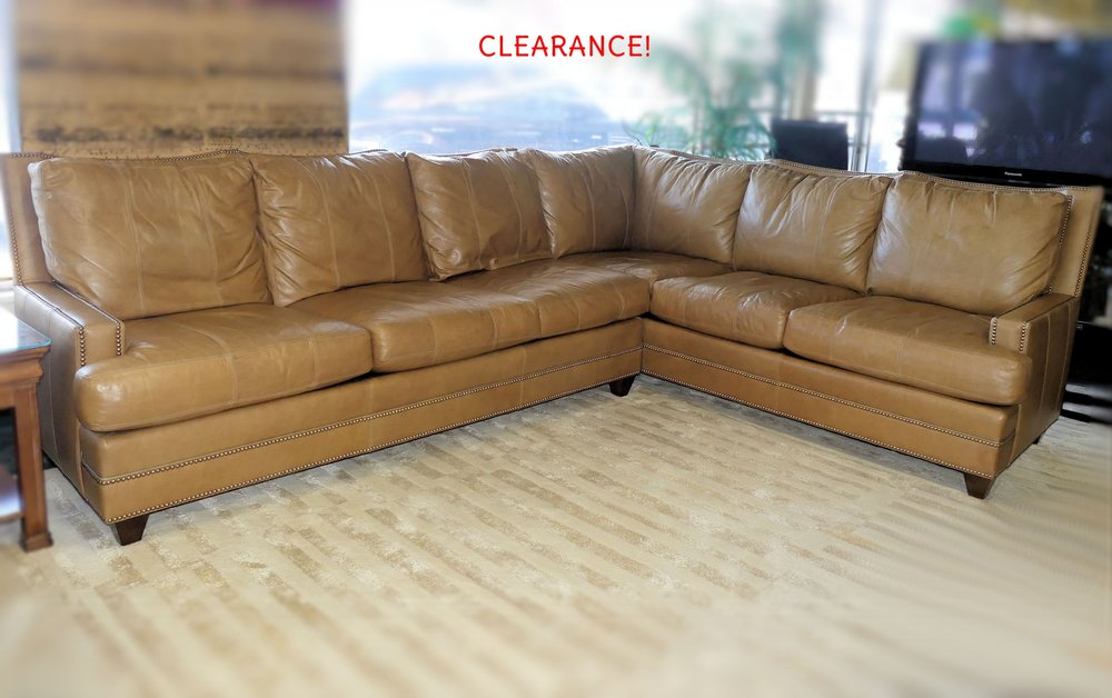 SOLD  Ferguson Copeland / Chaddock Home Catalina Leather Sectional