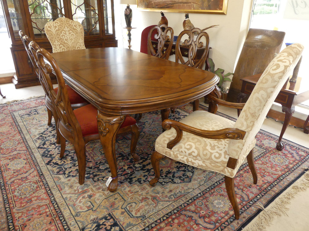 SOLD Thomasvile Cassara Dining Table plus 6 Chairs