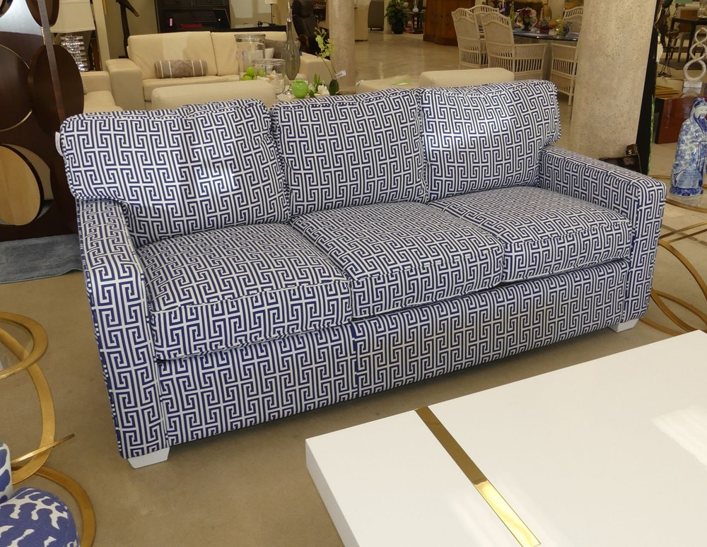 SOLD Braxton Culler Gramercy Sofa with Kravet Fabric New - Showroom Display Model