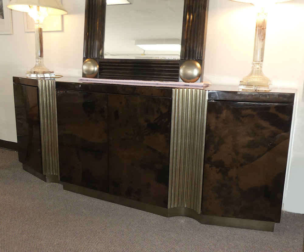 SOLD  Jimeco Lacquered Goatskin Credenza Made in Colombia