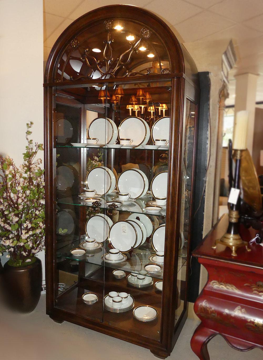 Thomasville Hills of Tuscany Bibbiano Lighted Curio Cabinet  $2,495