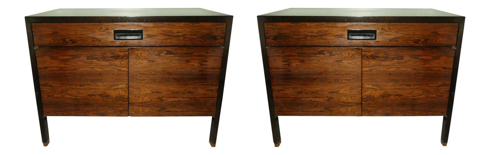 Pair of 2 Mid-Century Modern Harvey Probber Rosewood Nightstands  REDUCED: $2,200