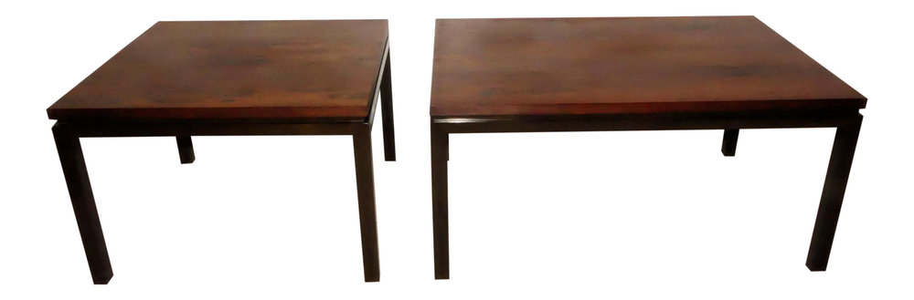 A Pair of Harvey Probber Mid-Century Modern Rosewood Cocktail Tables  $1,900