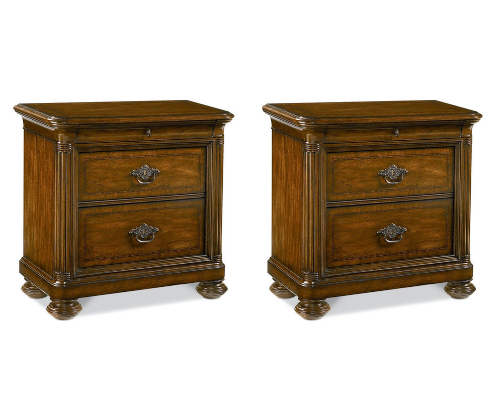 SOLD  Thomasville Ernest Hemingway Nairobi Nightstands - Pair of 2