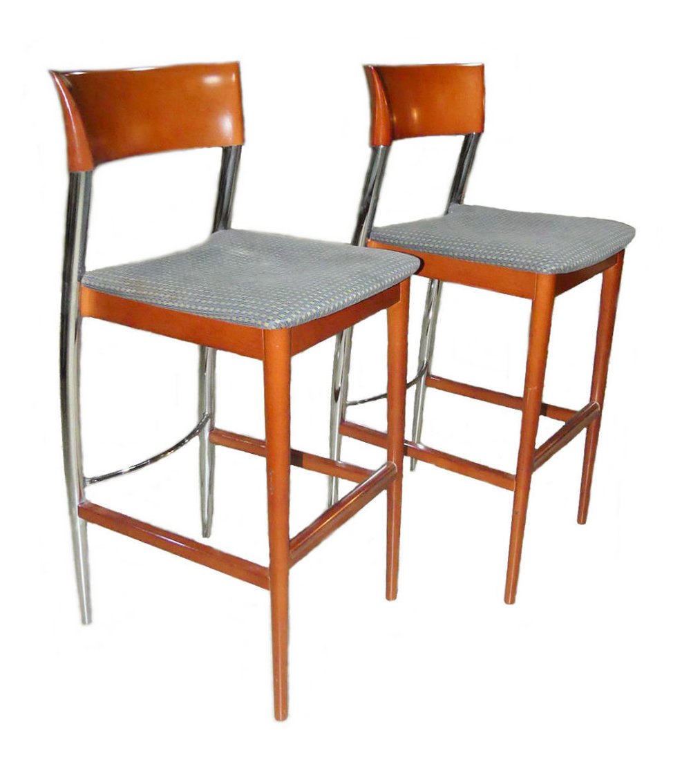 SOLD  Pair of 2 Mid-Century Loewenstein Barstools