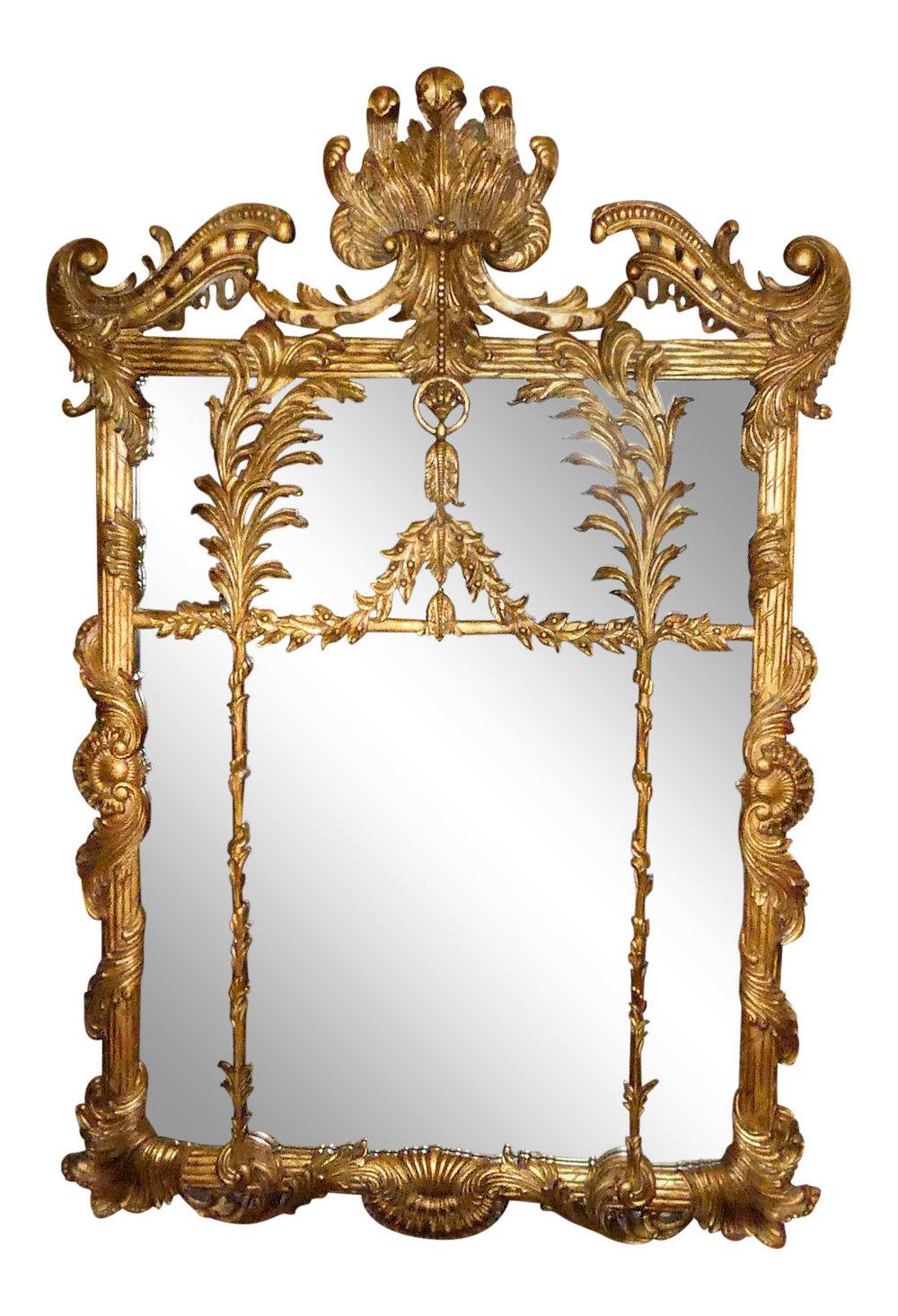 LaBarge Rococo Gilt Wood Mirror