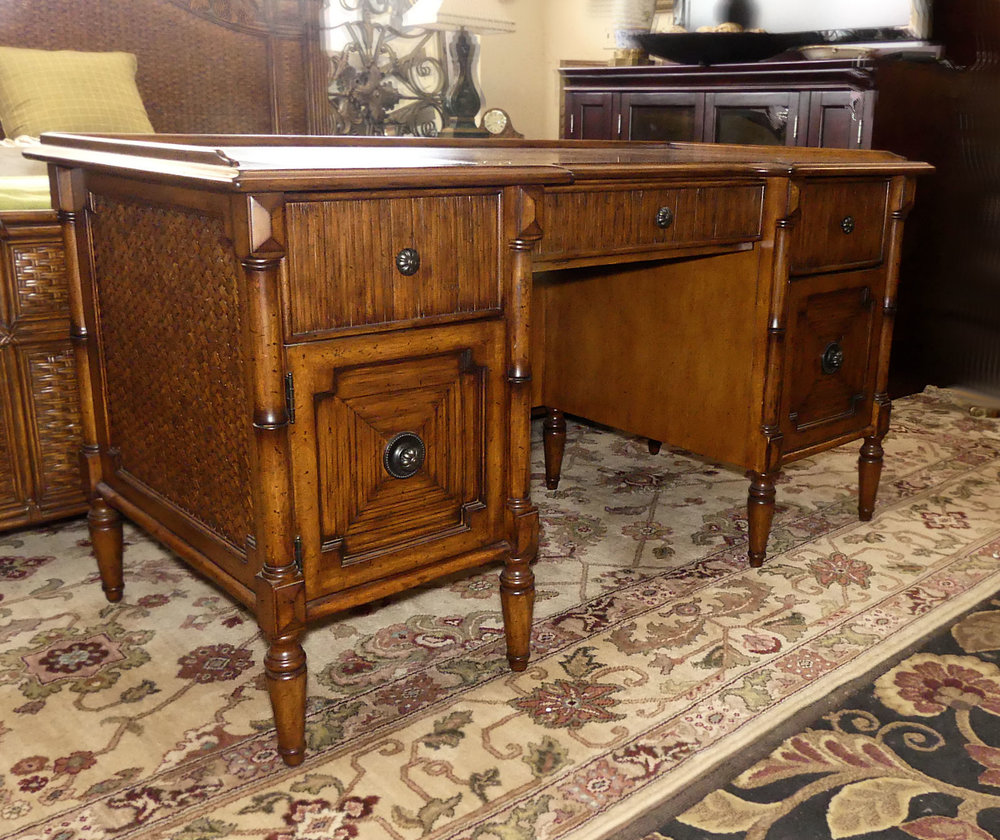 SOLD Lexington Tommy Bahama Leather Top Desk