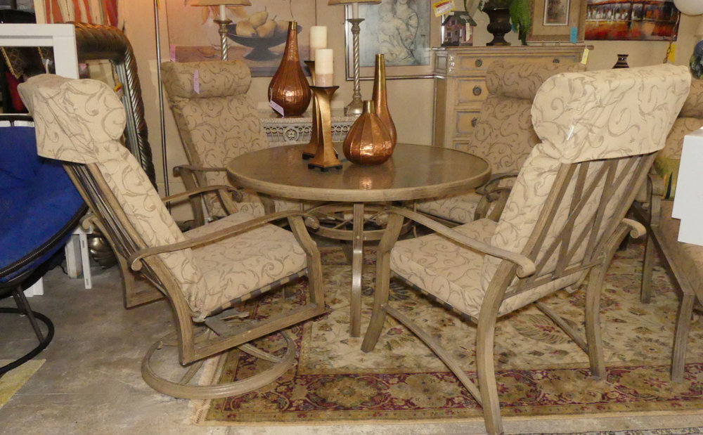 Woodard Outdoor Patio Dining Set  $1,100